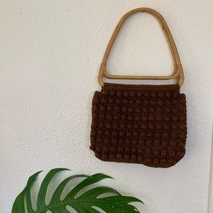 Vintage knit handbag